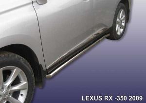 LEXUS RX-350 (2009)-Пороги d57 труба с гибами